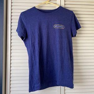 Anti Social XL Blue Short Sleeved Shirt